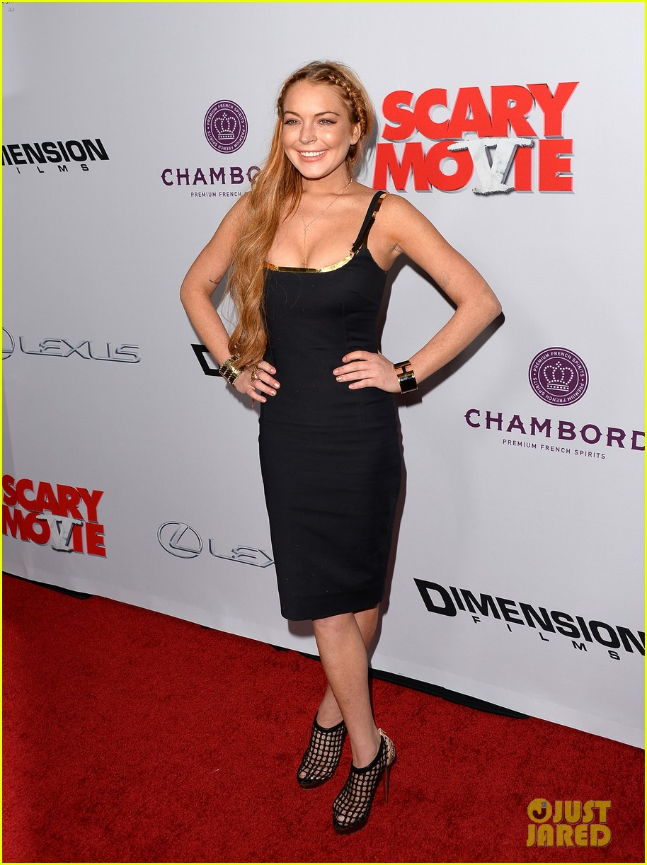 lindsay lohan scary movie 5 premiere with charlie sheen 142848038