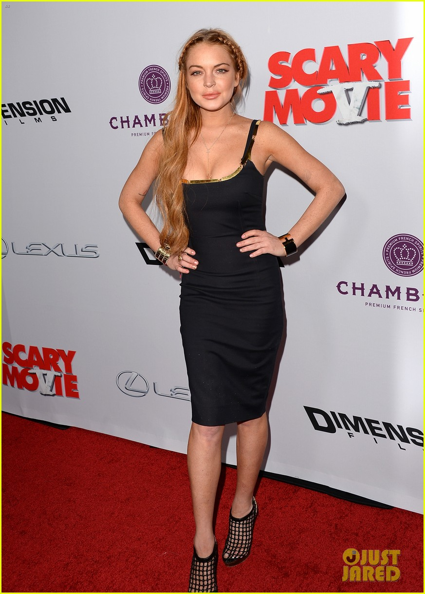 lindsay lohan scary movie 5 premiere with charlie sheen 16