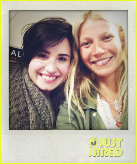 demi lovato gwyneth paltrow flight buddies 012846211