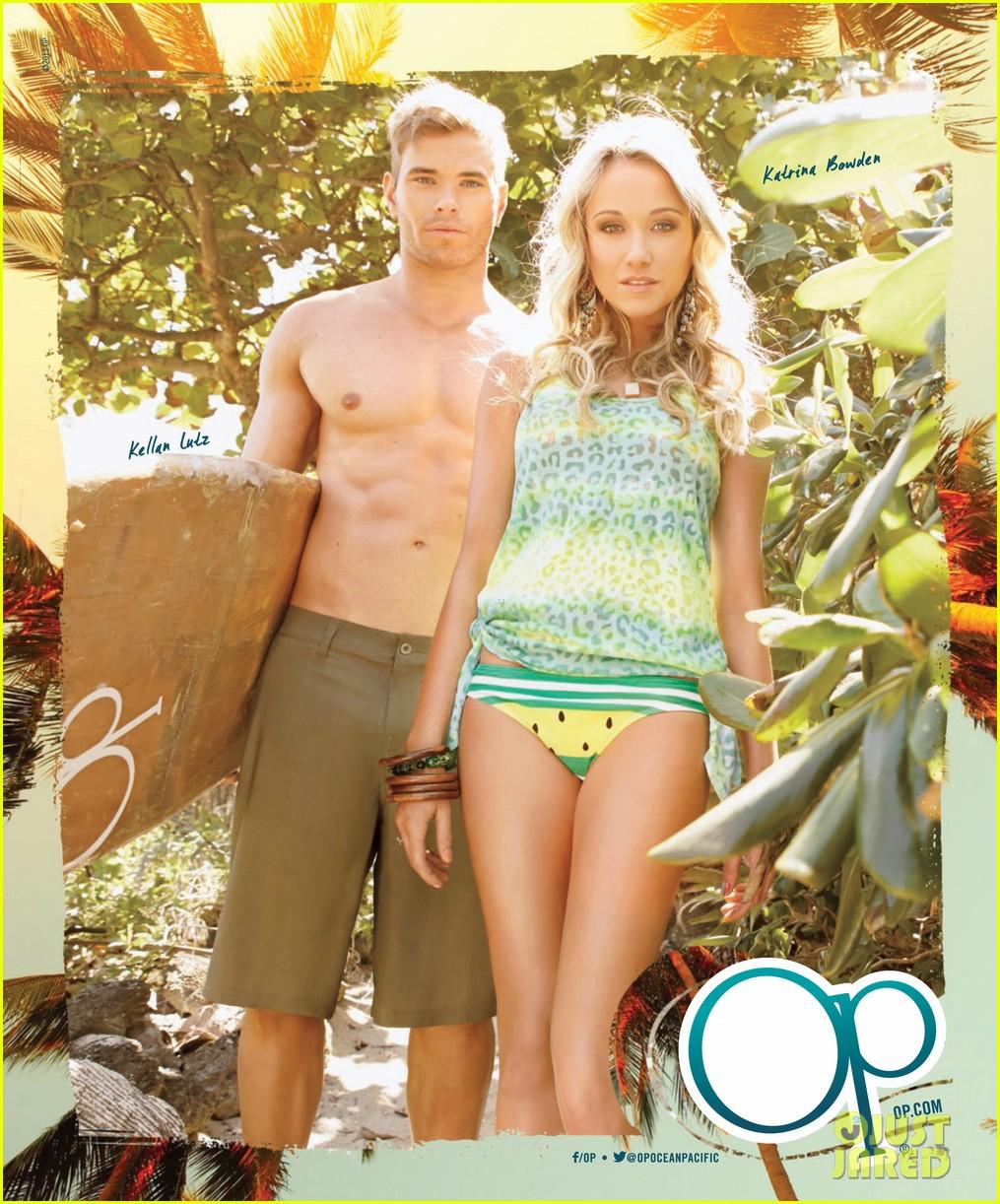 kellan lutz shirtless op campaign with bikini katrina bowden 052846879