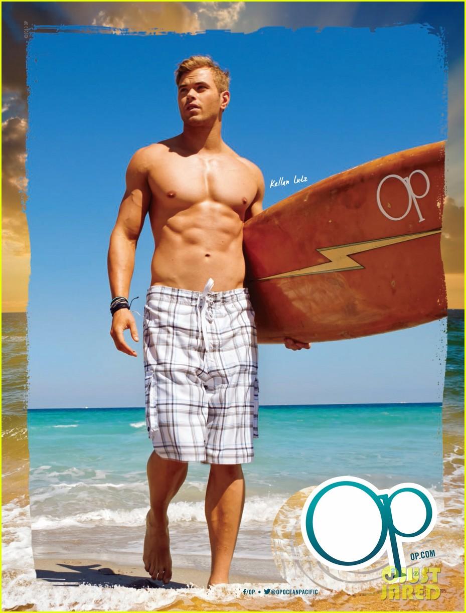 kellan lutz shirtless op campaign with bikini katrina bowden 082846882