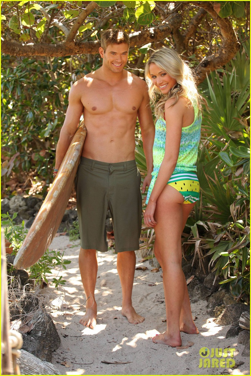 kellan lutz shirtless op campaign with bikini katrina bowden 132846887