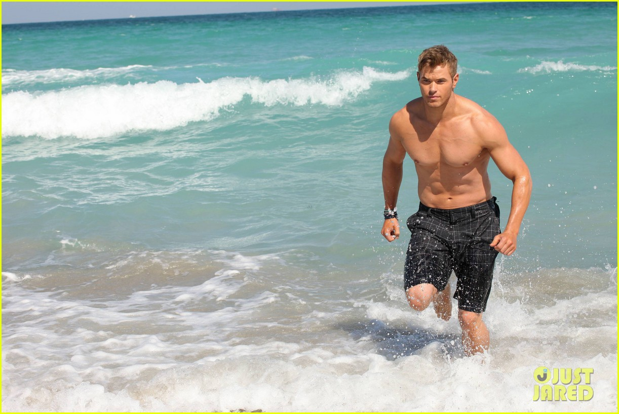 kellan lutz shirtless op campaign with bikini katrina bowden 16
