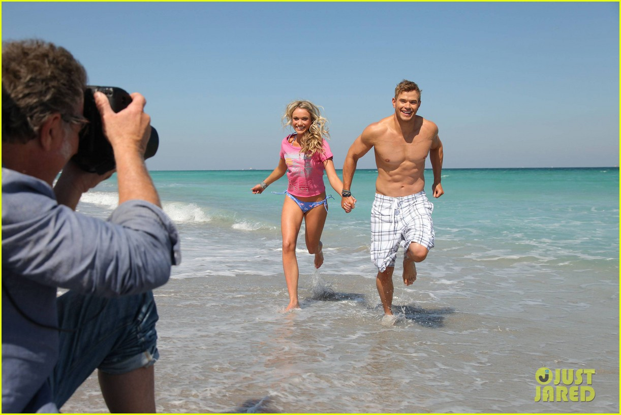 kellan lutz shirtless op campaign with bikini katrina bowden 172846891