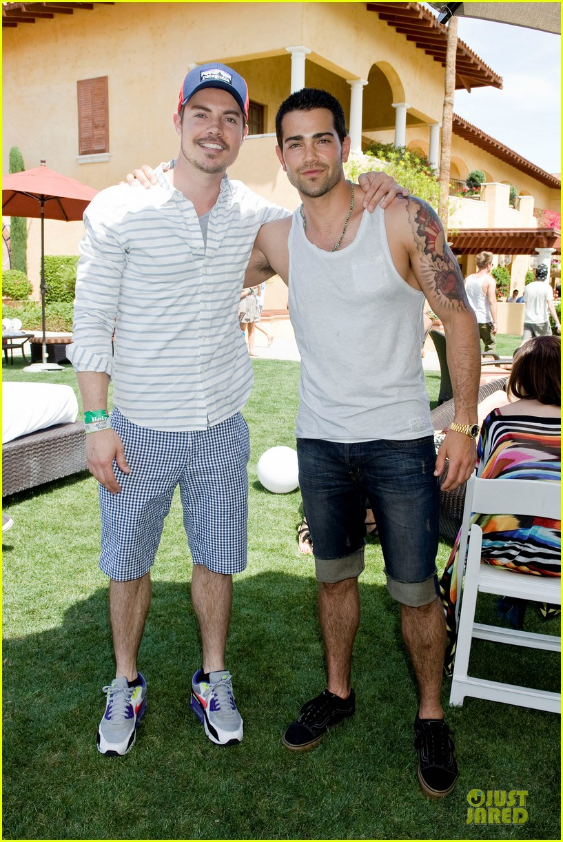 jesse metcalfe josh henderson justjared armani exchange music festival brunch 012848940