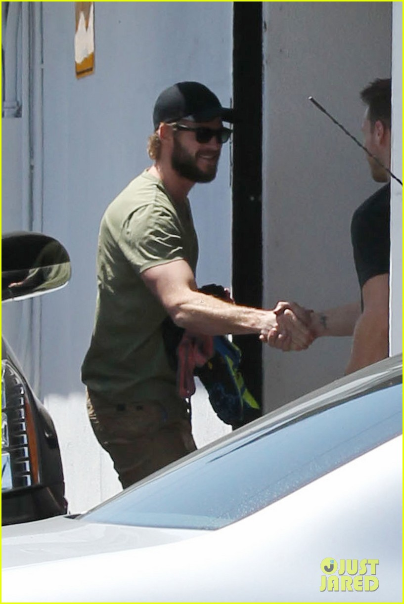 miley cyrus liam hemsworth separate cali outings 062856374