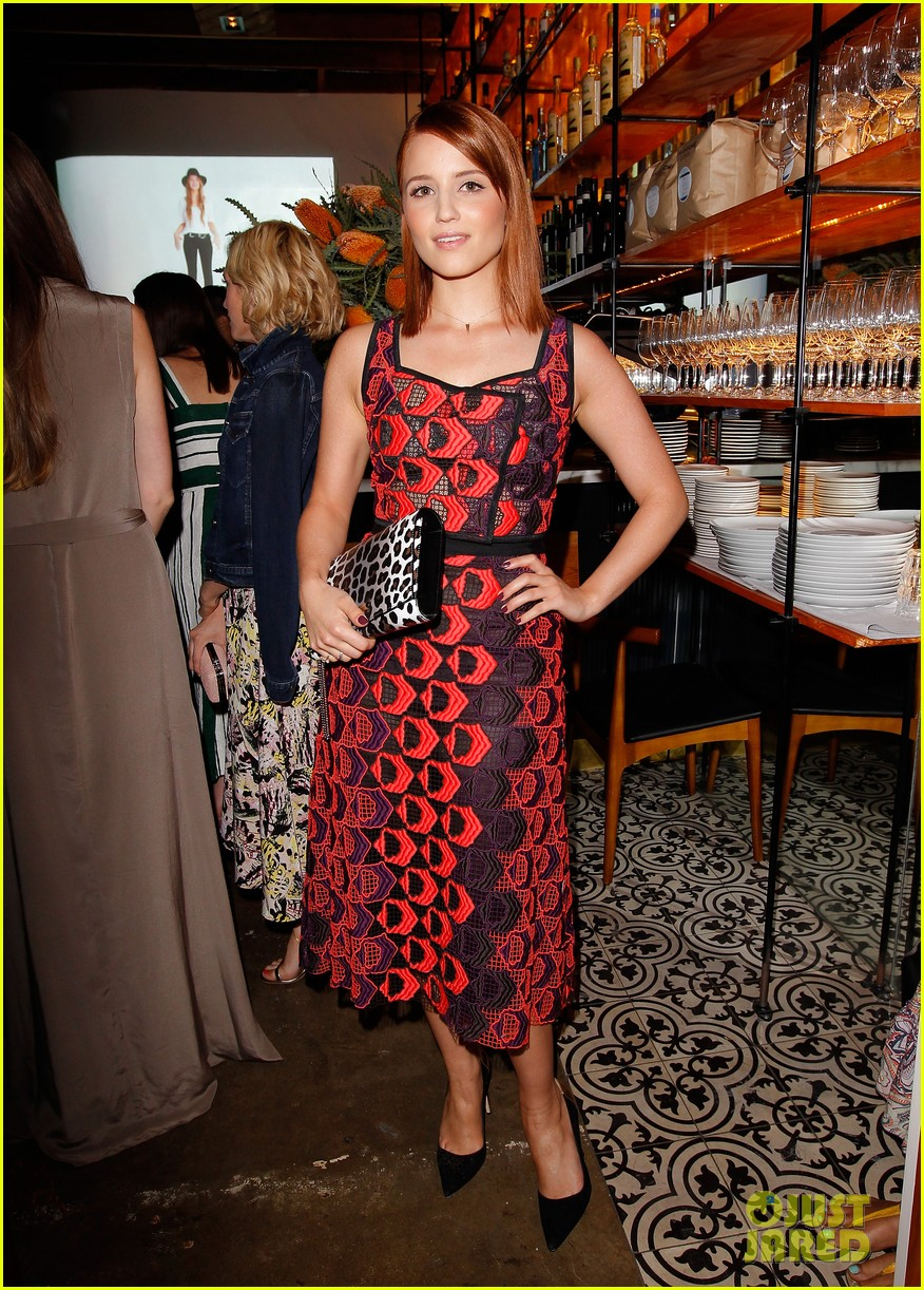 dianna agron olivia munn vogue triple threats dinner 062843796