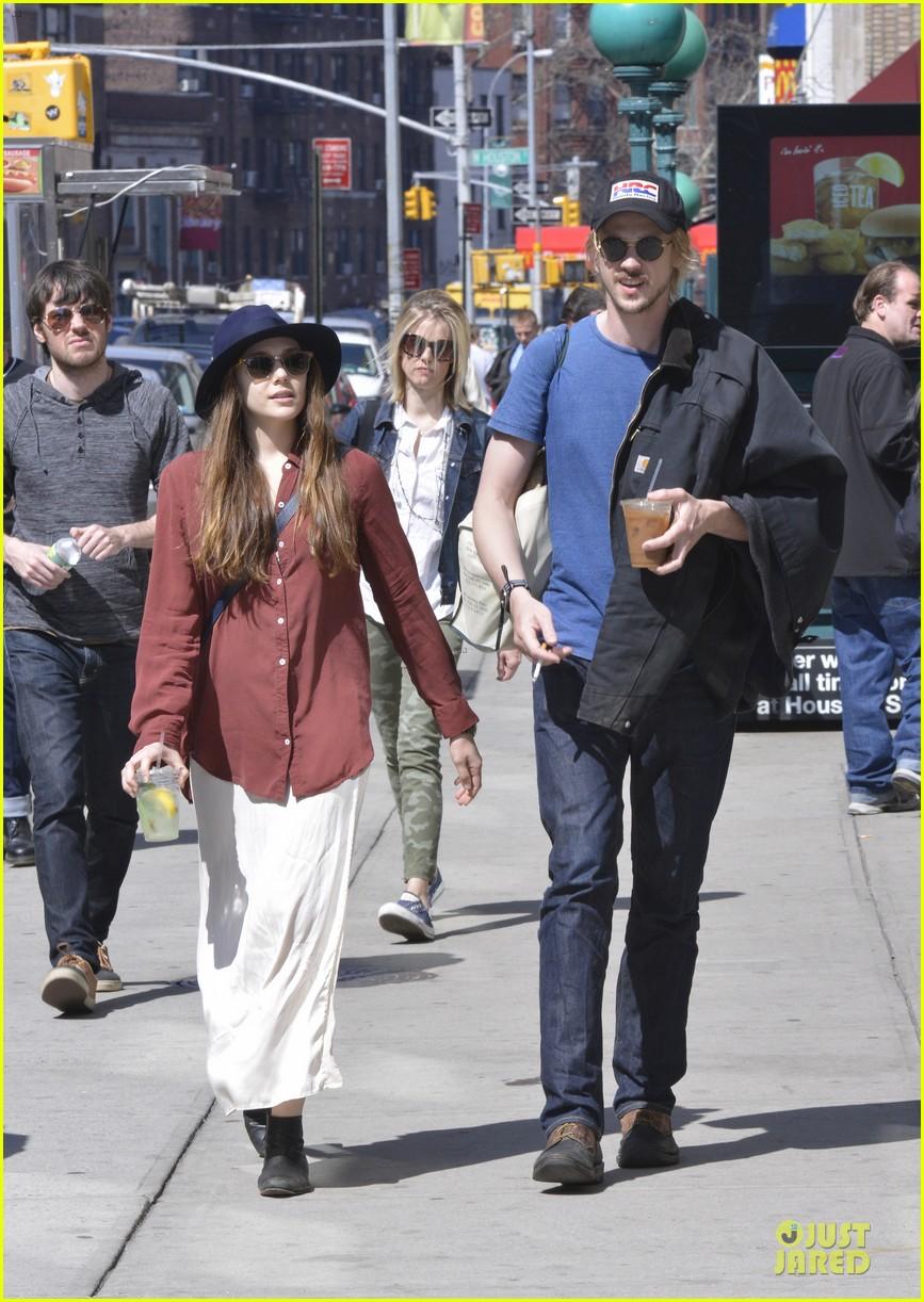 elizabeth olsen boyd holbrook soho strolling couple 122845875