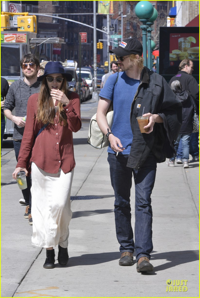 elizabeth olsen boyd holbrook soho strolling couple 132845876