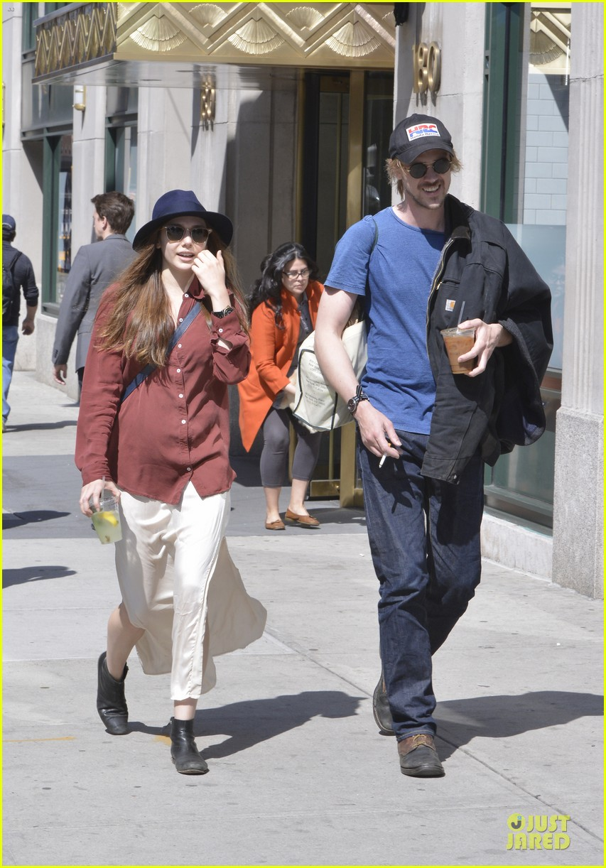 elizabeth olsen boyd holbrook soho strolling couple 152845878