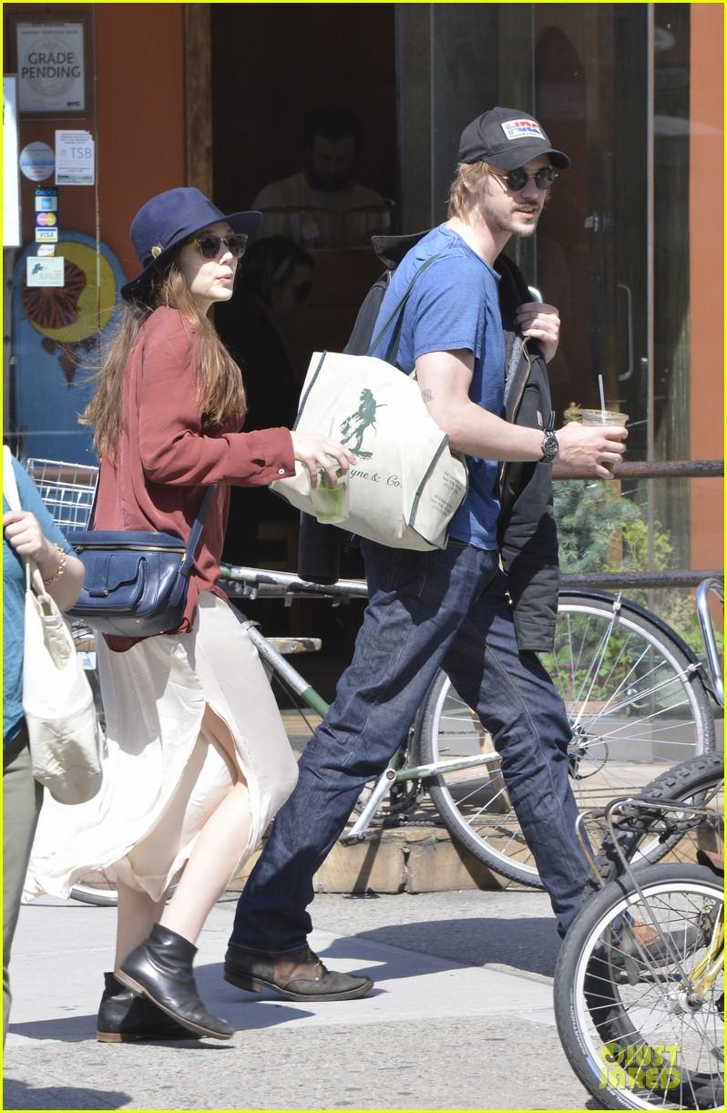 elizabeth olsen boyd holbrook soho strolling couple 222845885