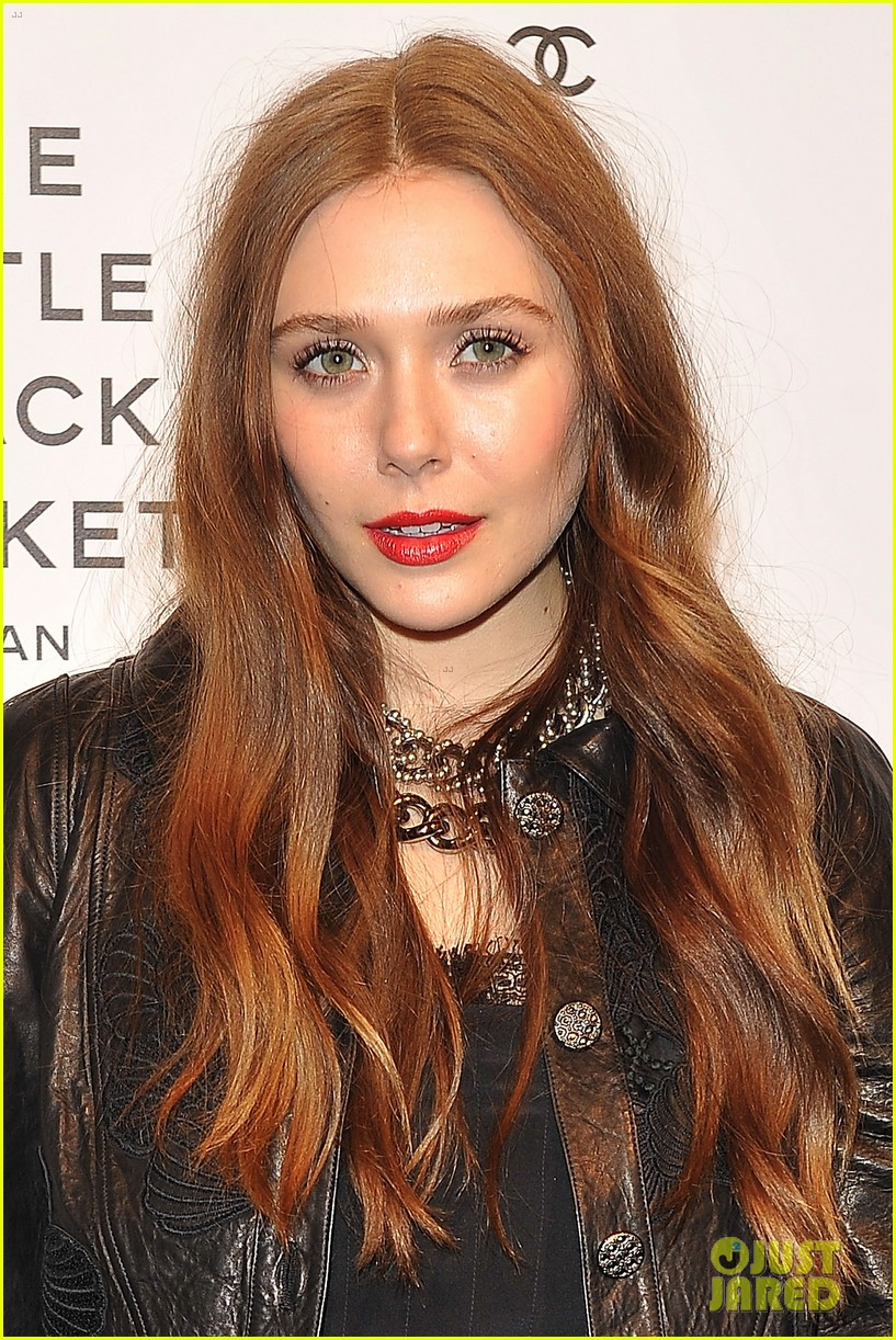 elizabeth olsen chanel little black jacket event 02