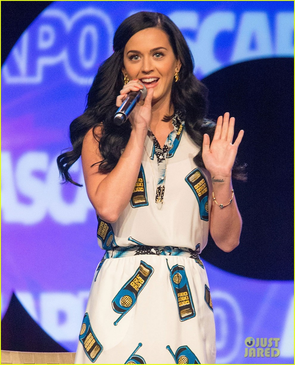 katy perry cell phone dress at ascap expo 05