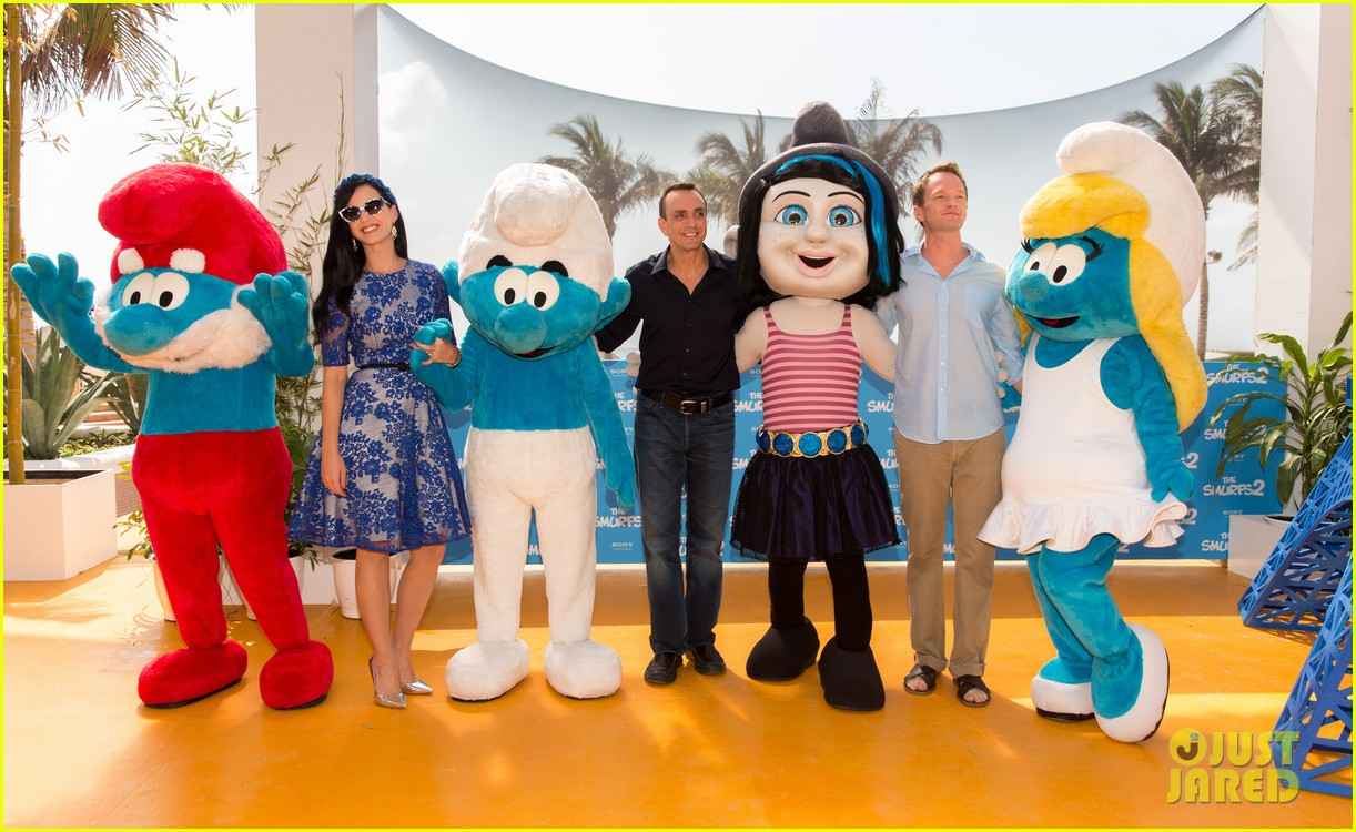 katy perry neil patrick harris smurfs 2 at summer of sony 052855734