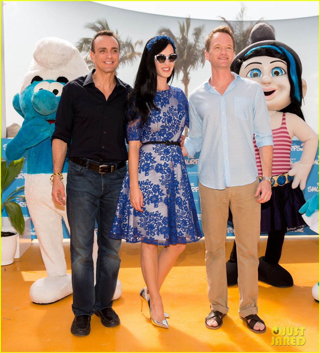 katy perry neil patrick harris smurfs 2 at summer of sony 102855739