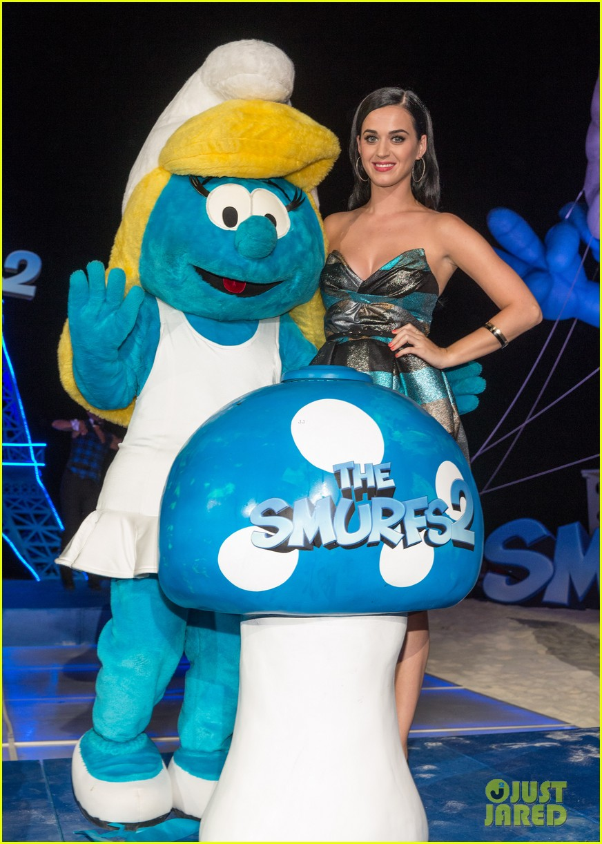 katy perry smurfs 2 summer of sony party 032856582