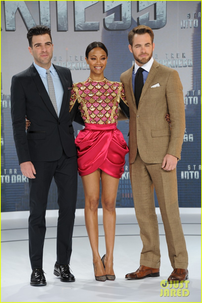 chris pine zoe saldana star trek into darkness in berlin 152860727