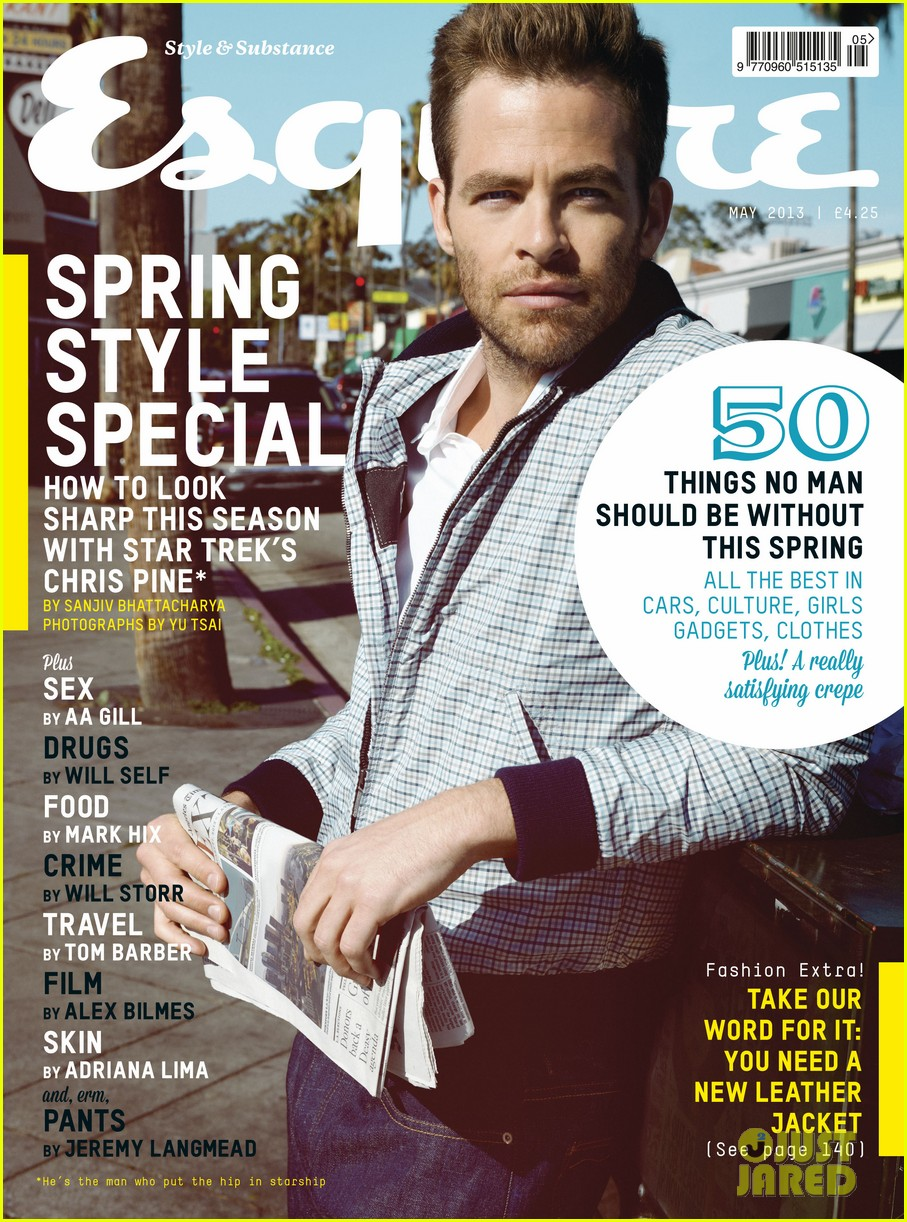 chris pine covers esquire uk may 2013 032842620