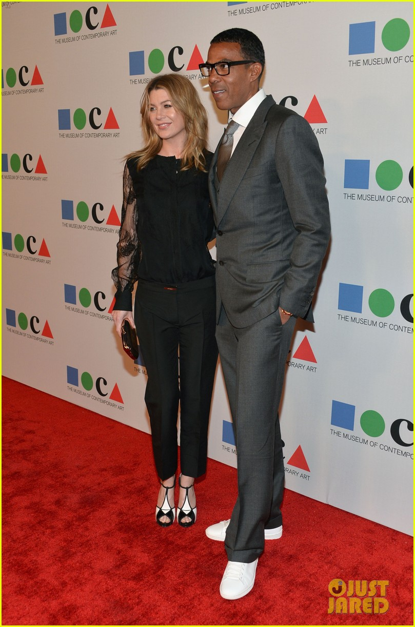 ellen pompeo moca gala 2013 with chris ivery 022854593