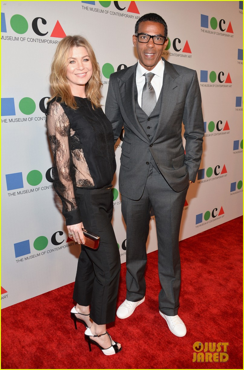 ellen pompeo moca gala 2013 with chris ivery 05