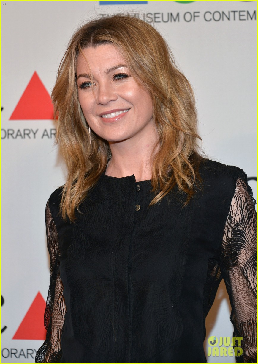 ellen pompeo moca gala 2013 with chris ivery 082854599