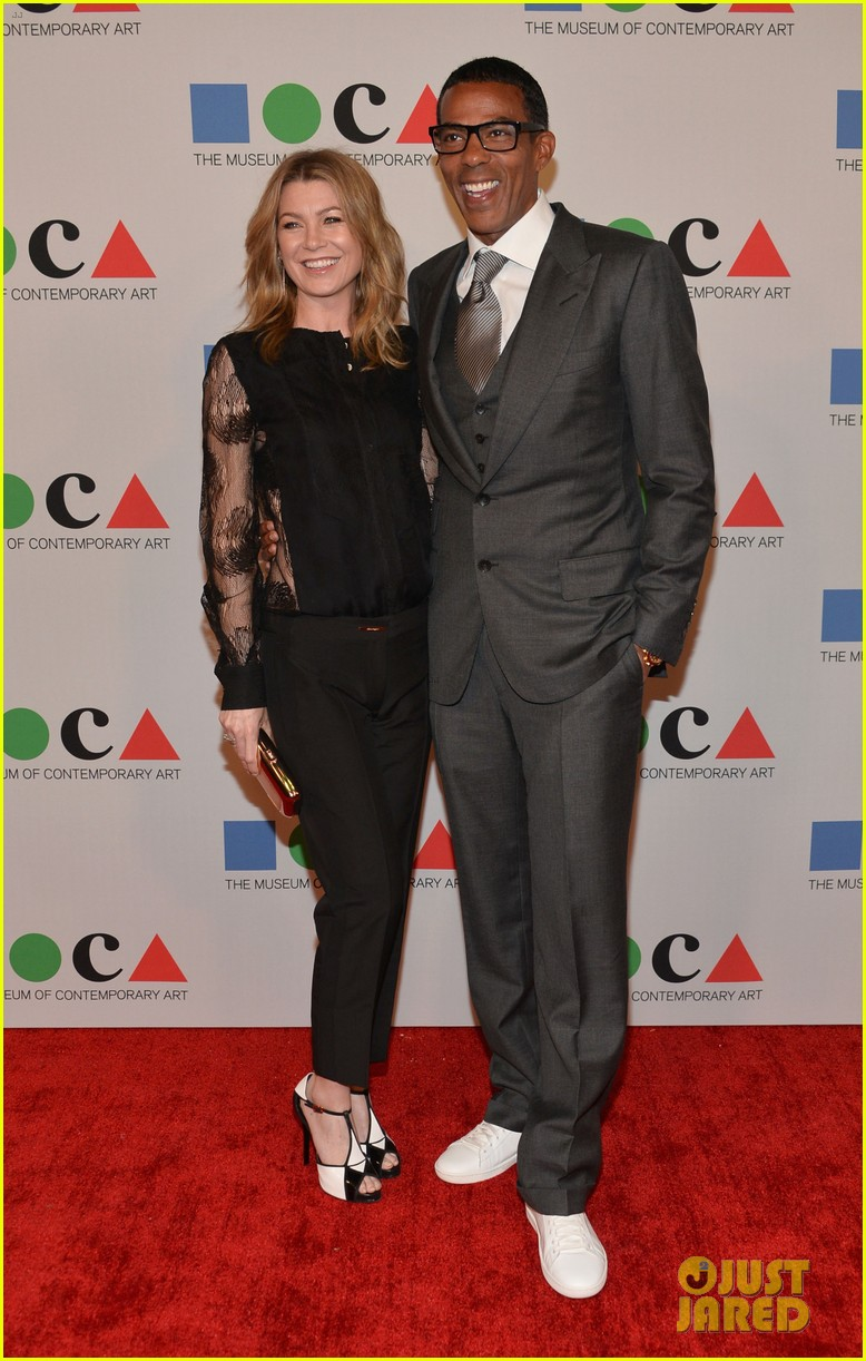 ellen pompeo moca gala 2013 with chris ivery 102854601