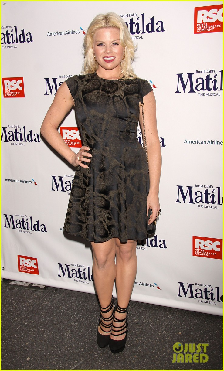 zachary quinto megan hilty matilda opening night 032848117