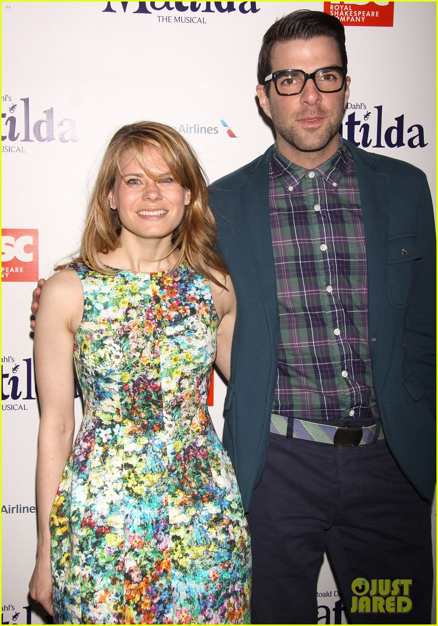 zachary quinto megan hilty matilda opening night 15