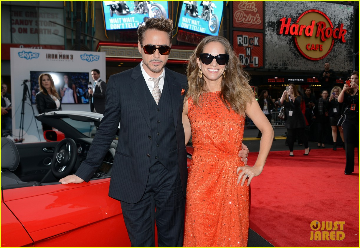 robert downey jr guy pearce iron man 3 premiere 092857574