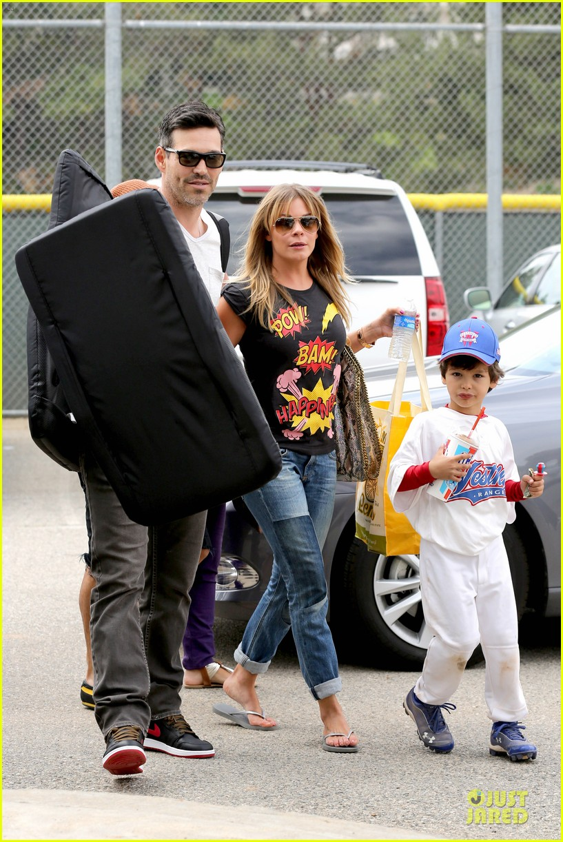 leann rimes eddie cibrian jake baseball game before birthday party 06