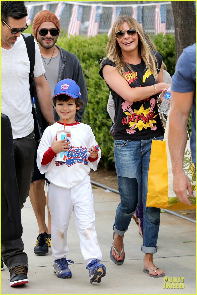 leann rimes eddie cibrian jake baseball game before birthday party 132849581