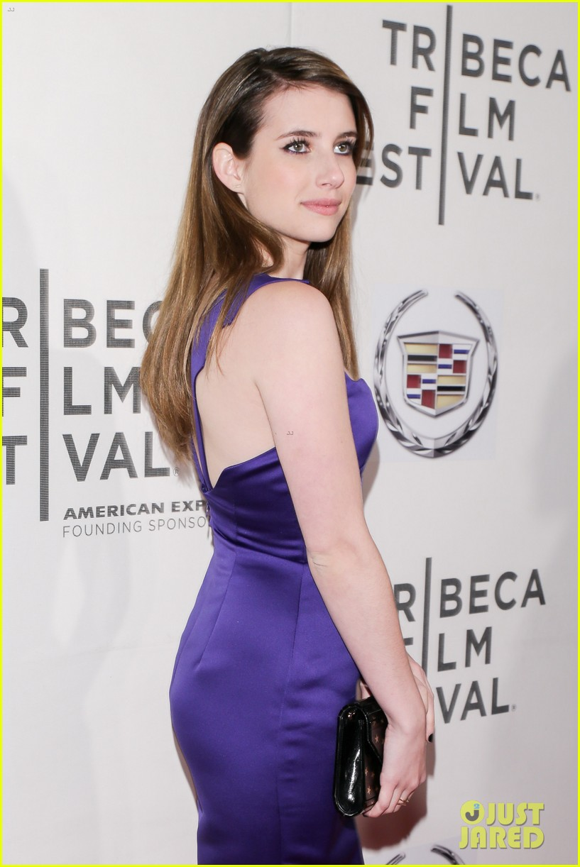 emma roberts wears two different dresses to adult world premiere 172852931