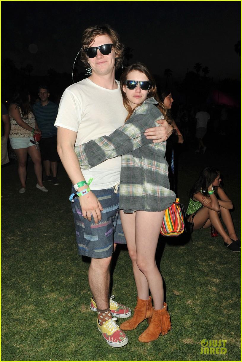 emma roberts evan peters coachella cuddling couple 032848867