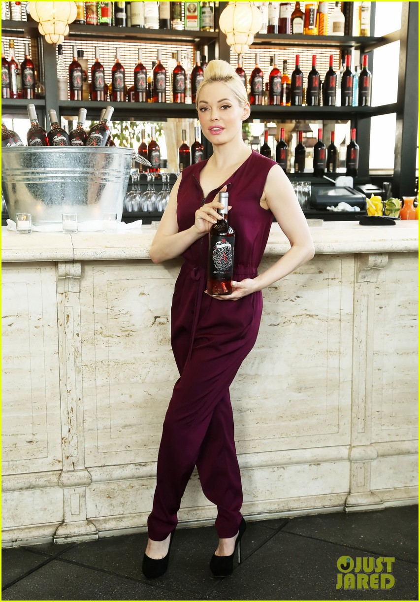 rose mcgowan apothic rose launch in nyc 012857875