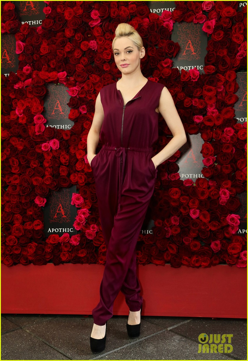 rose mcgowan apothic rose launch in nyc 072857881