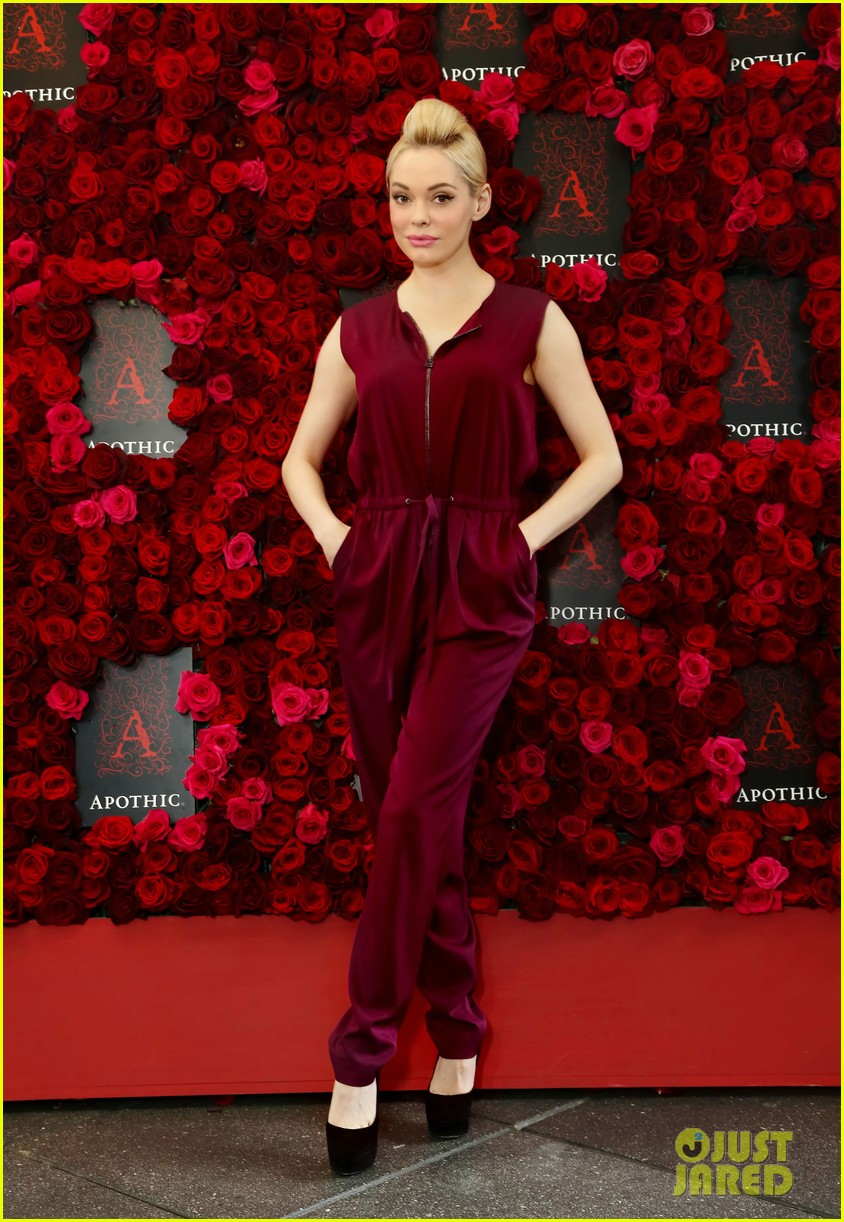 rose mcgowan apothic rose launch in nyc 162857890