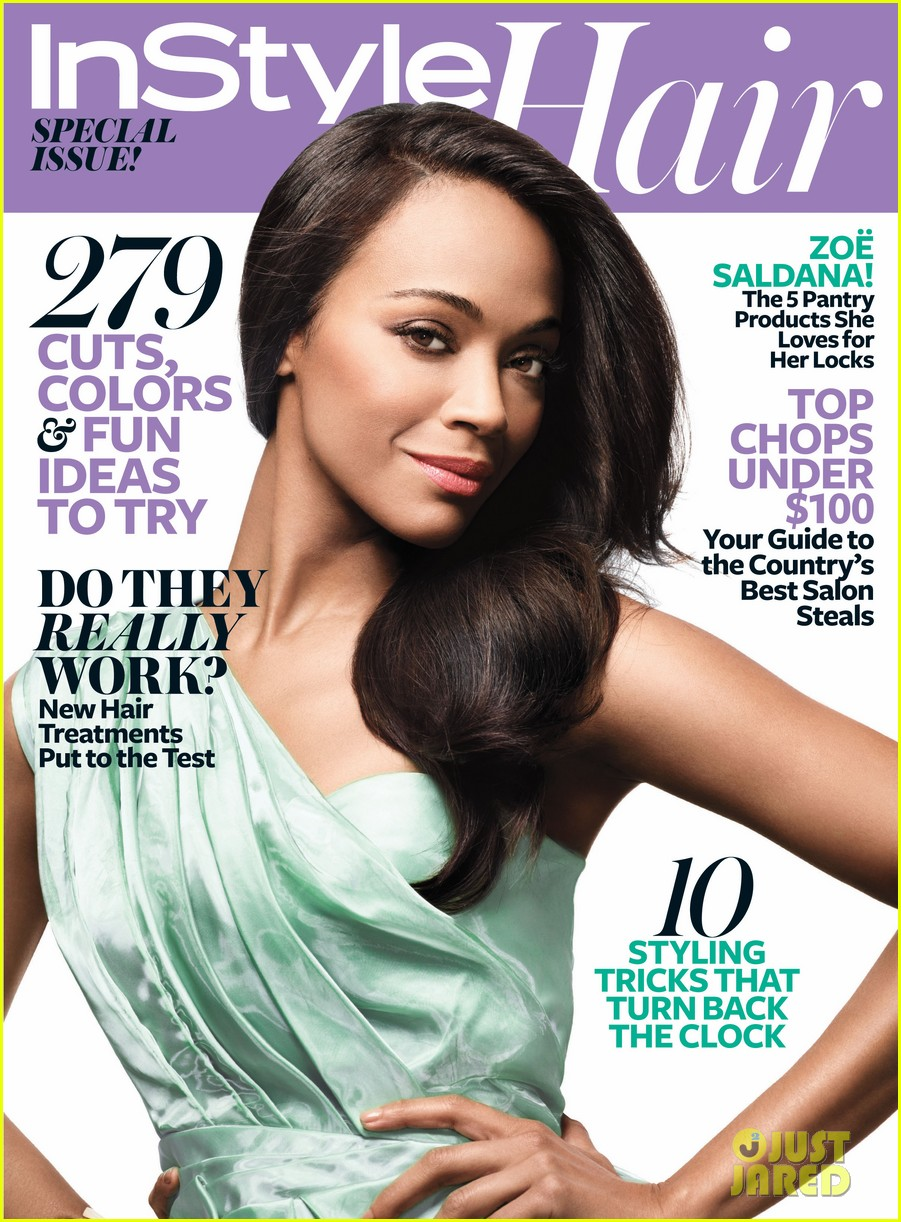 zoe saldana covers instyle hair special issue 012842035