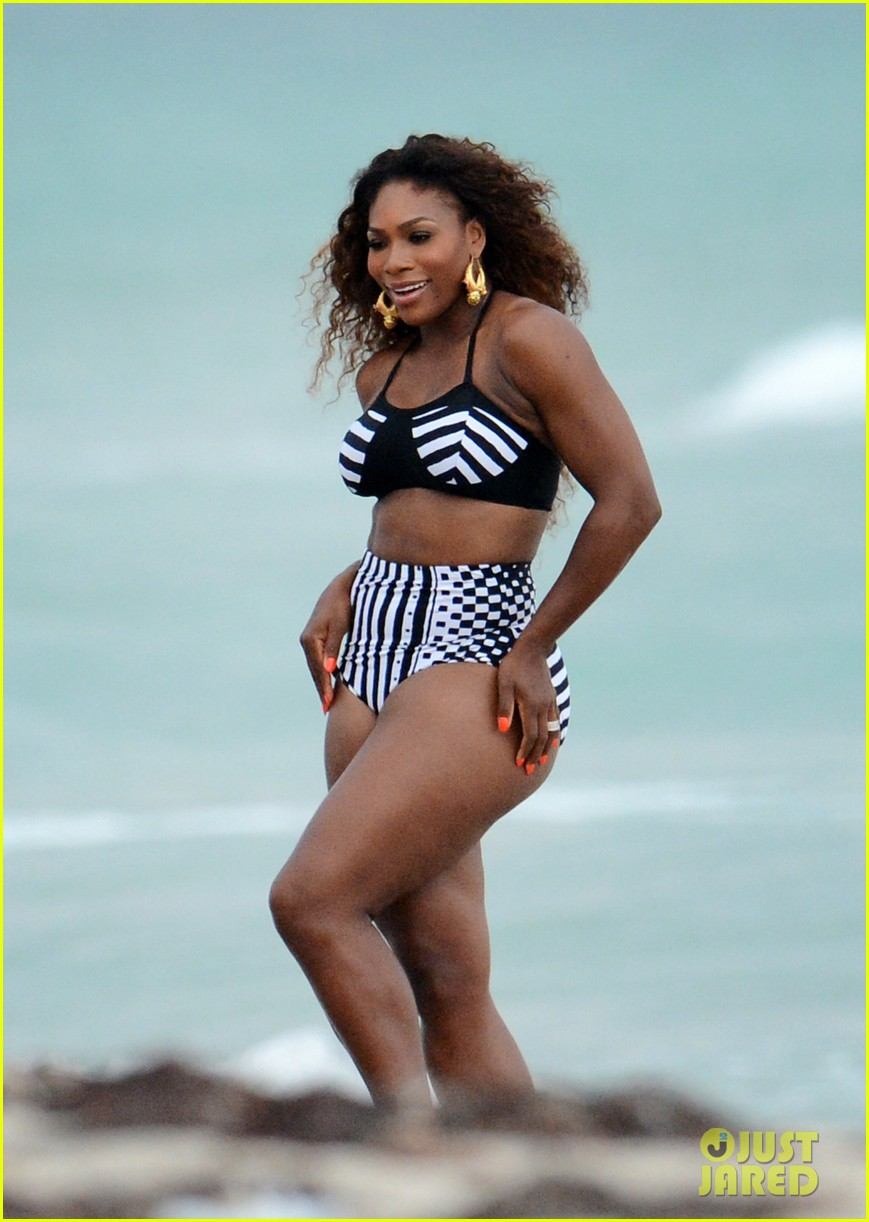 serena williams bikini beach photo shoot 12