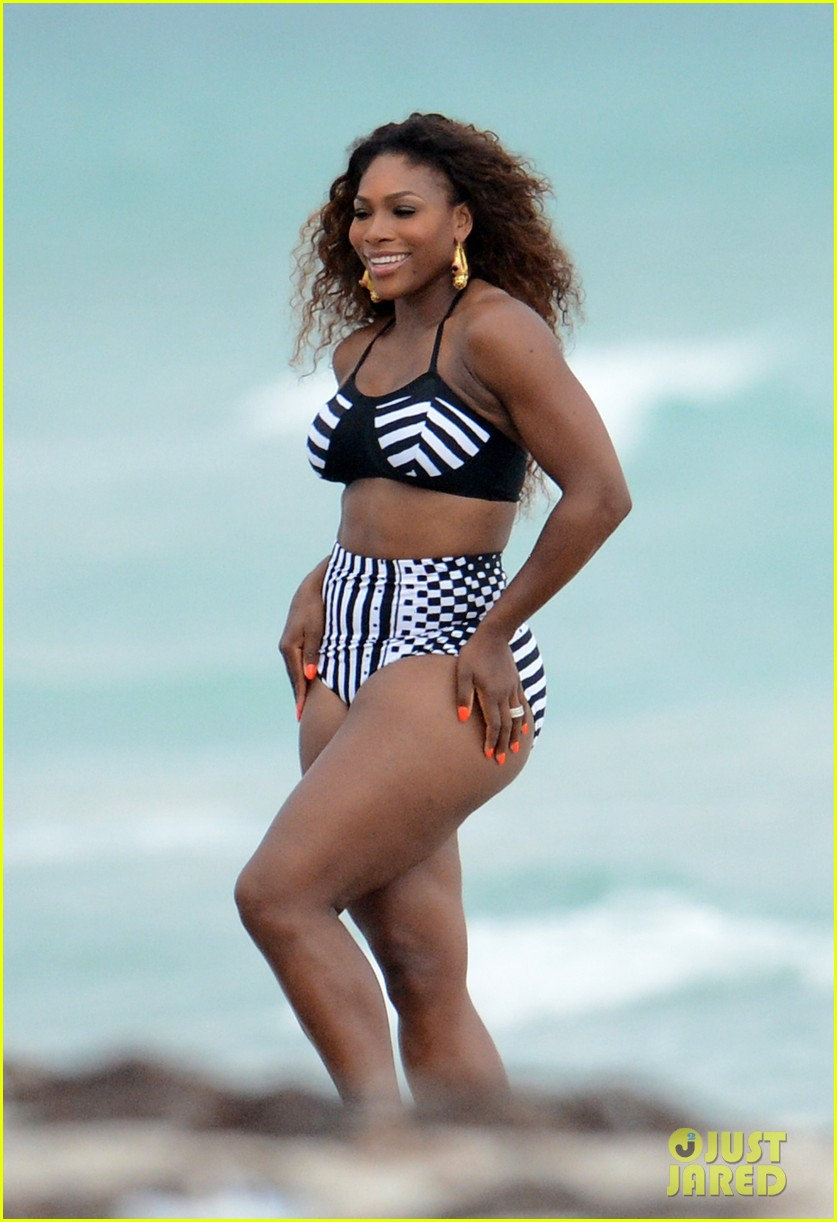 serena williams bikini beach photo shoot 13