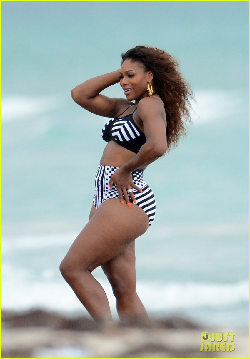 serena williams bikini beach photo shoot 26