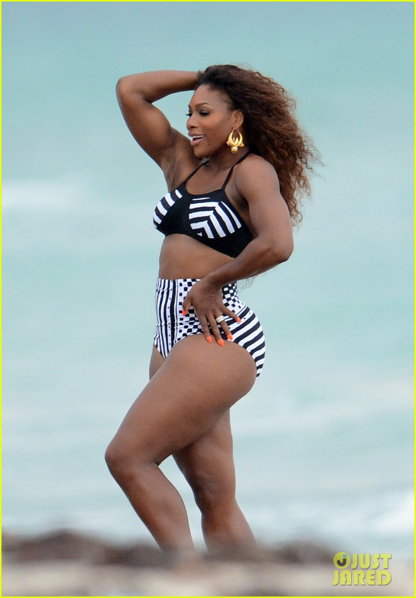 serena williams bikini beach photo shoot 28