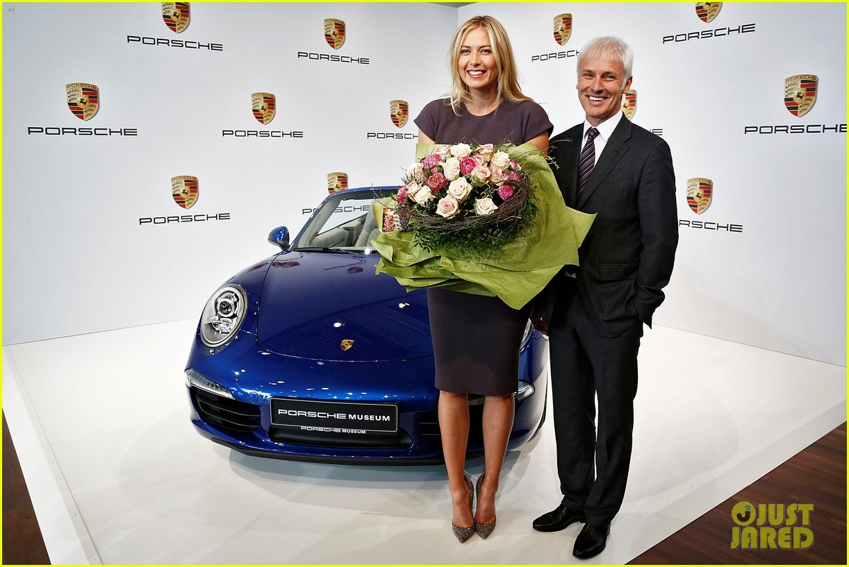 maria sharapova porsche new brand ambassador 032855778