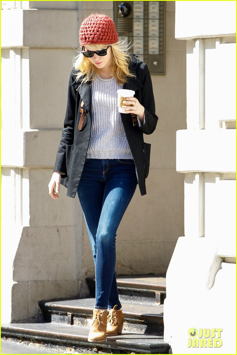 emma stone andrew garfield bubbys coffee couple 132855808