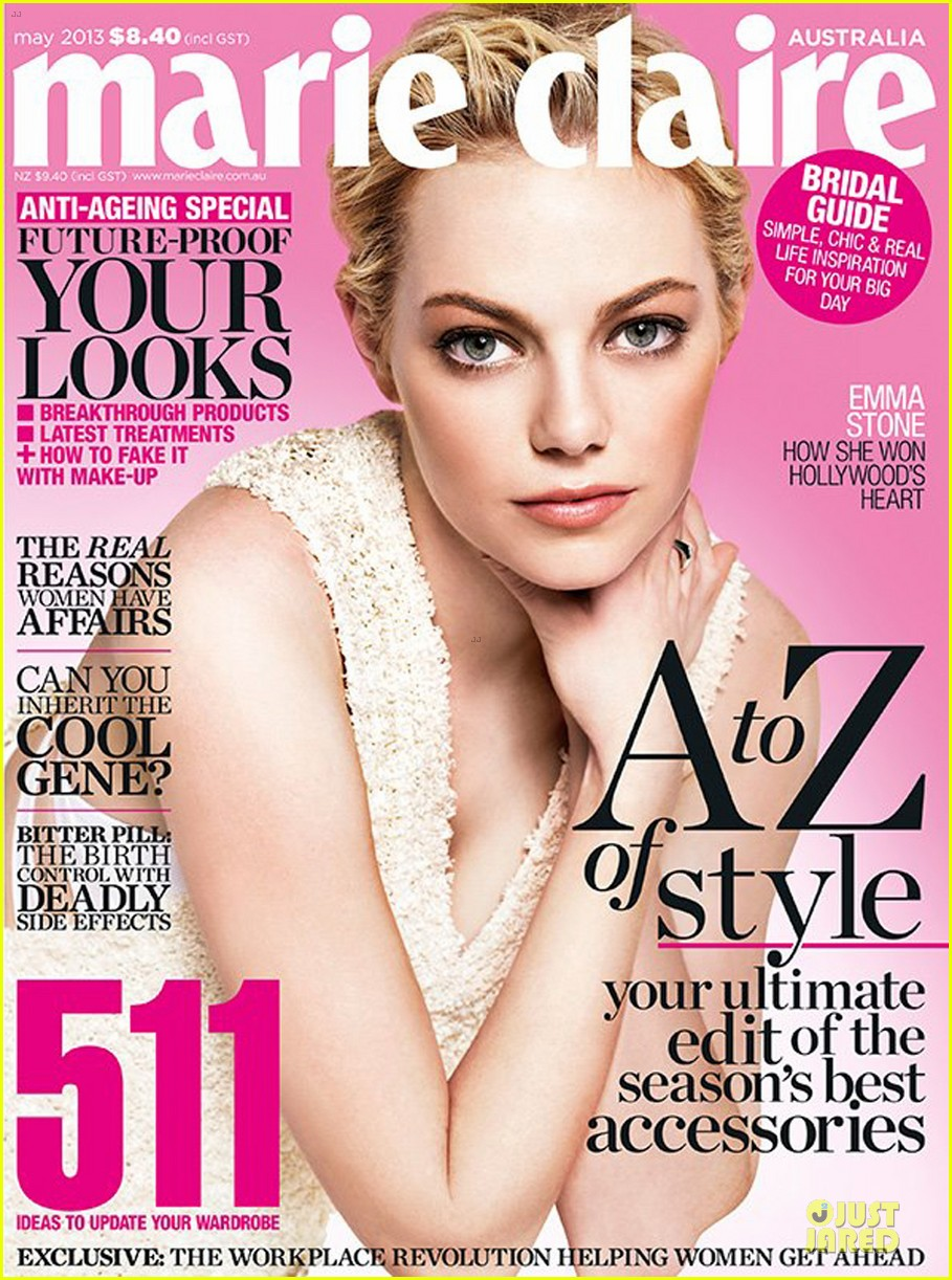emma stone covers marie claire australia may 2013 052846296