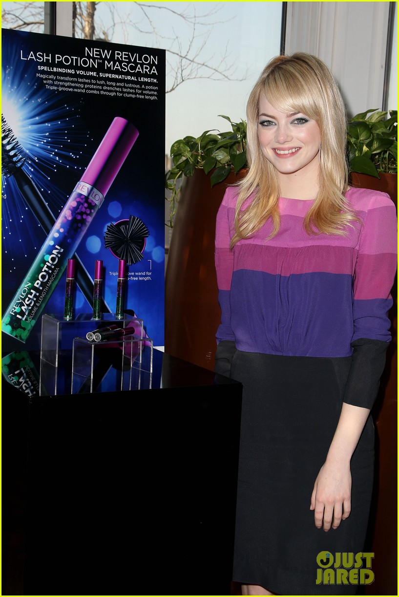 emma stone revlon mascara launch 022857271