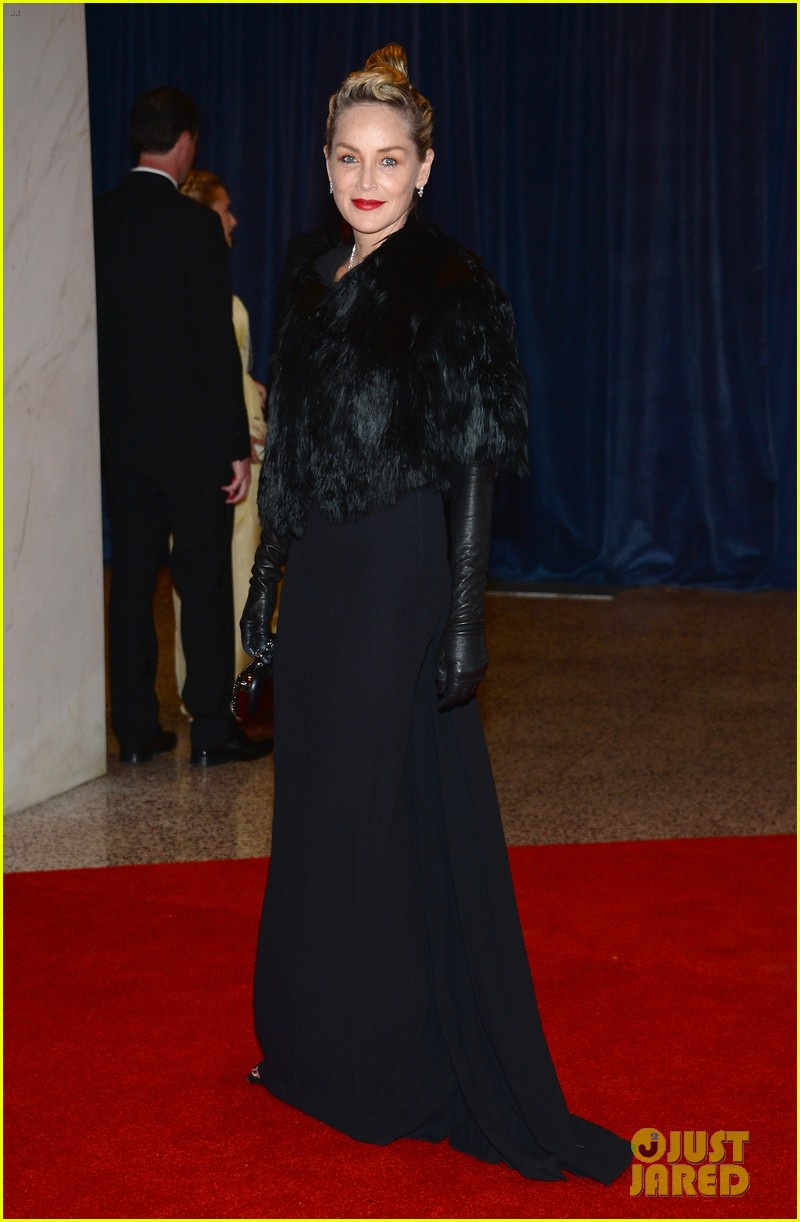sharon stone white house correspondents dinner 2013 07