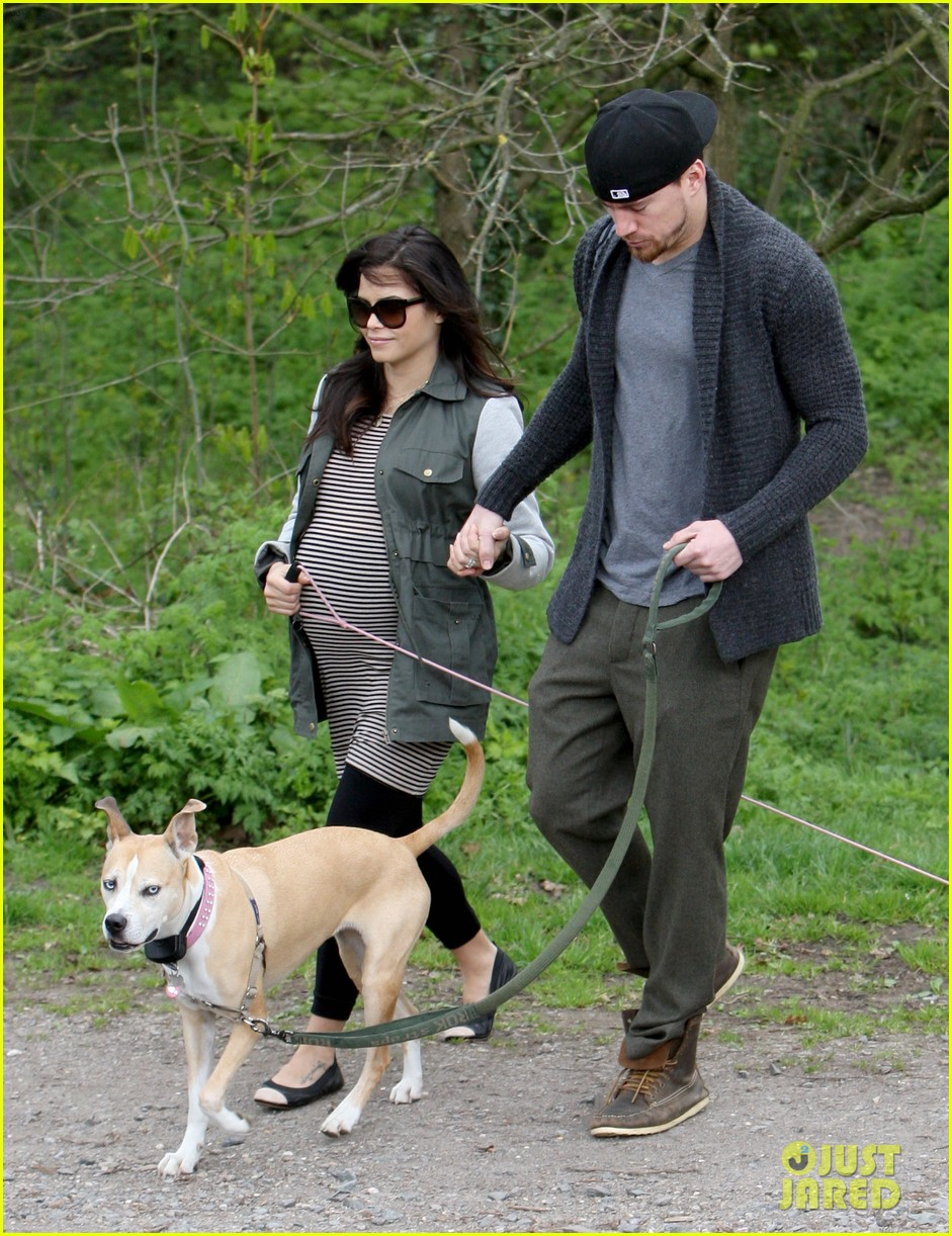 channing tatum pregnant jenna dewan london dog walk 142860579