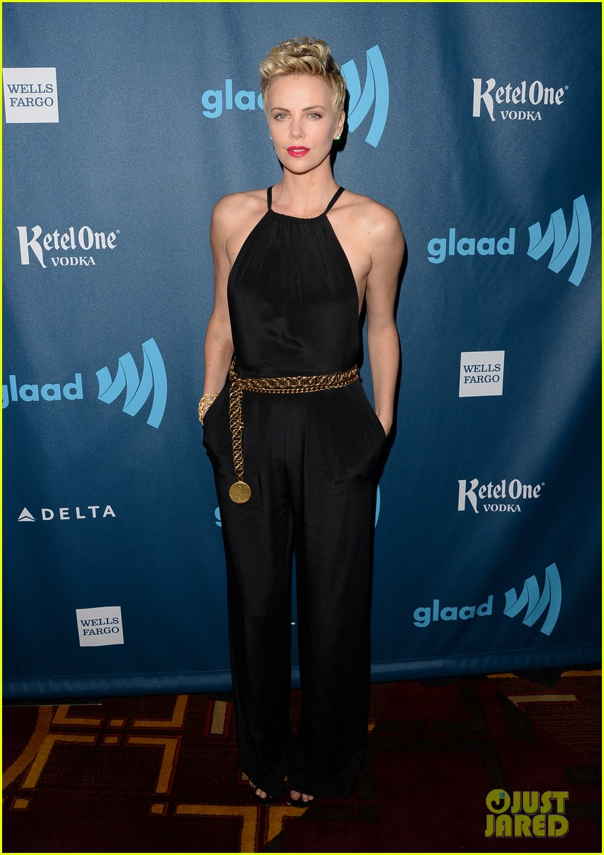 charlize theron glaad media awards 2013 red carpet 012854460
