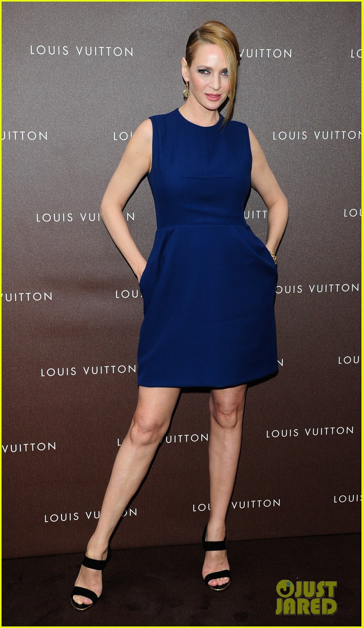 Uma Thurman: Louis Vuitton Maison Opening in Germany ...
