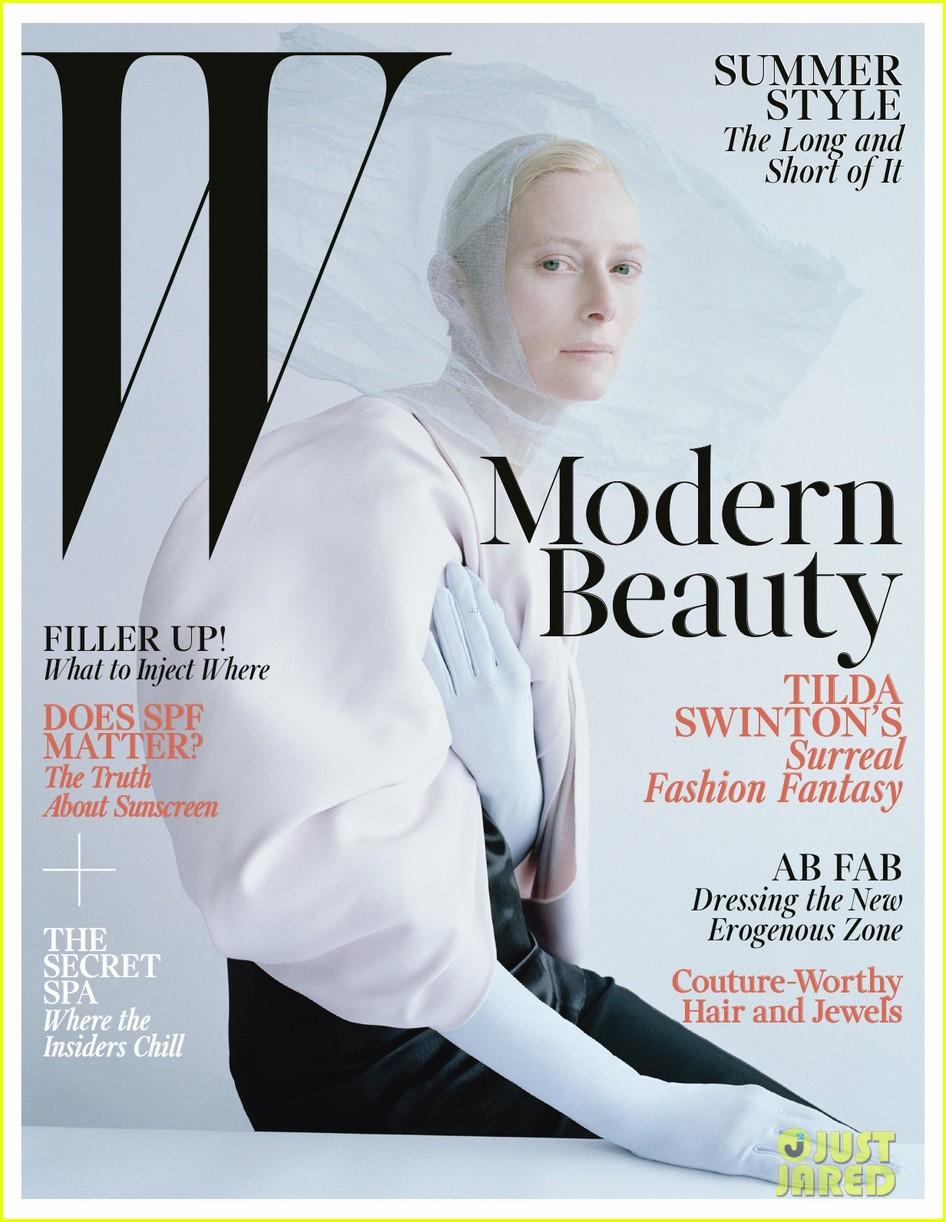 tilda swinton caterpillar covered for w magazine 012852647